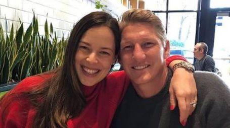 Ana Ivanovic e Bastian Schweinsteiger (Instagram)