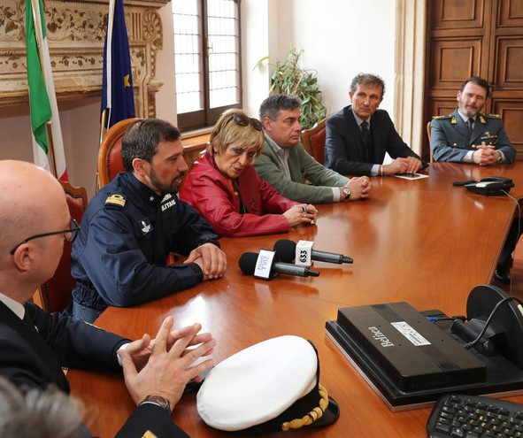 La conferenza stampa in Prefettura (Fotoprint)
