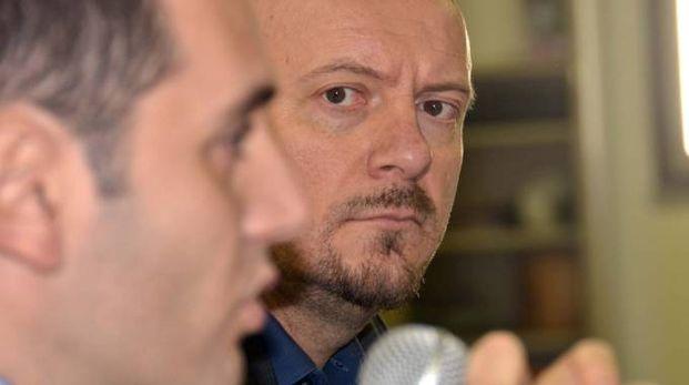 Marco Di Maio e Davide Drei nel corso di un'iniziativa politica comune