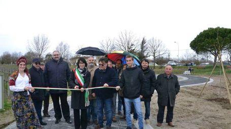 Al taglio del nastro era presente il sindaco di Bagnacavallo, Eleonora Proni (Scardovi)