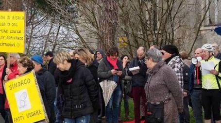 La protesta dei multati sulla Litoranea a gennaio