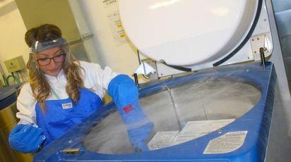 Uno dei tank di azoto liquido