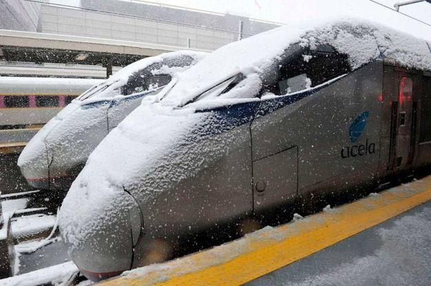 Treni congelati (Lapresse)