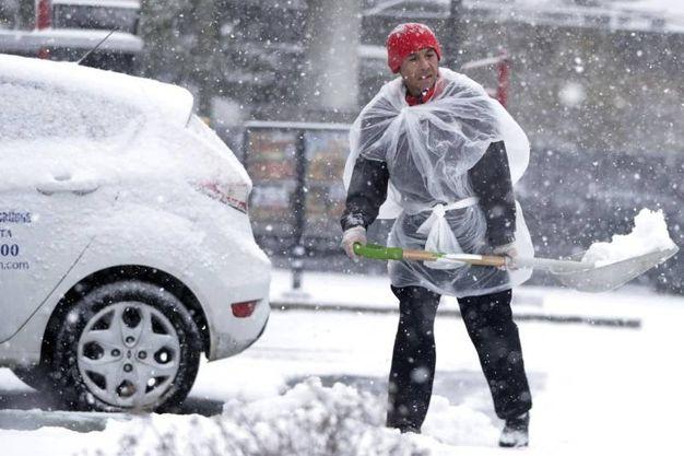 Il New Jersey sotto la neve (Ansa)