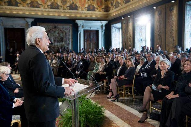 Il Presidente Mattarella alla cerimonia di presentazione dei candidati (Lapresse)