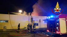 L'incendio nell'area di servizio