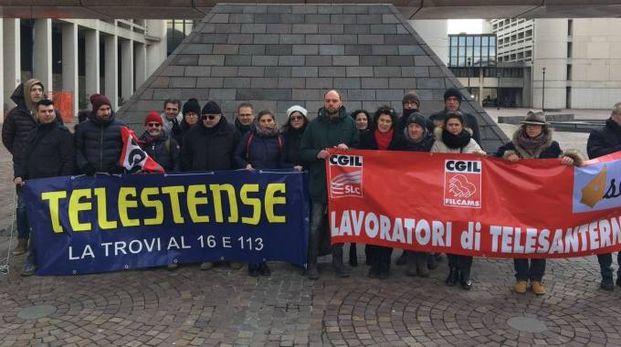 La manifestazione questa mattina a Bologna