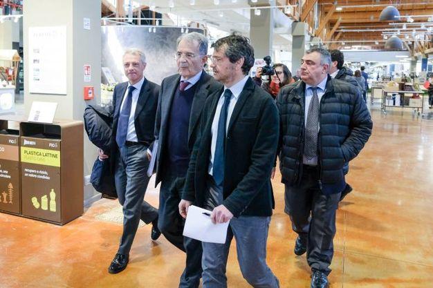 Romano Prodi e il presidente della Fondazione Fico Andrea Segrè (FotoSchicchi)