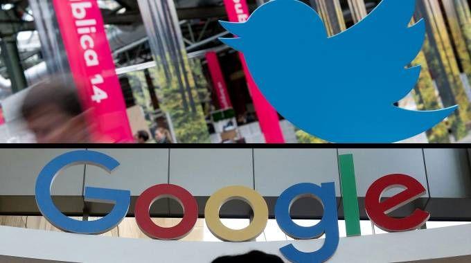 I loghi di Twitter e Google