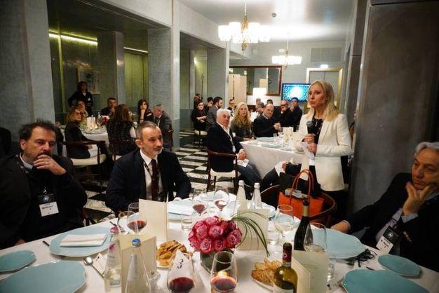 Un momento della cena   (Gianluca Moggi / New Press Photo)