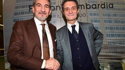 Attilio Fontana (a destra) e Raffaele Cattaneo