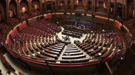 Panoramica dell'Aula della Camera (Ansa)