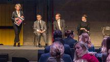 Da sx Giulia Pessani, Gianluca Brozzetti, Guglielmo Miani e Bruno Riffeser Monti