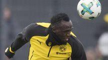 Usain Bolt in allenamento col Borussia Dortmund (Ansa)