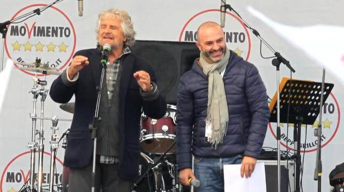 Beppe Grillo e Massimo Bugani