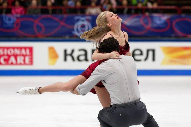 Kaitlyn Weaver e Andrew Poje medaglia di bronzo (foto Ansa)