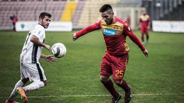Carmine De Sena, bomber giallorosso che ha deciso la partita (Foto Romin)