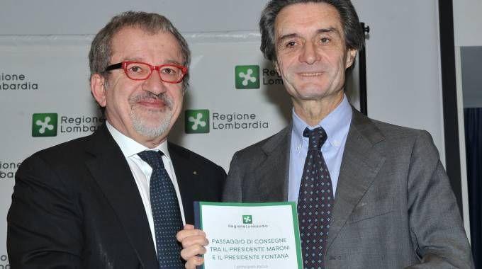 Roberto Maroni e Attilio Fontana, entrambi leghisti