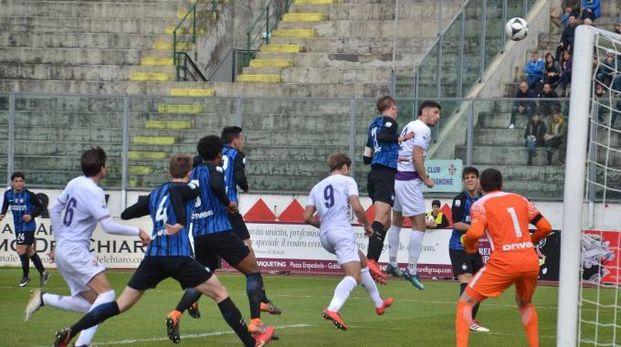 Viareggio Cup, Fiorentina-Inter: un'azione del match (foto Umicini)