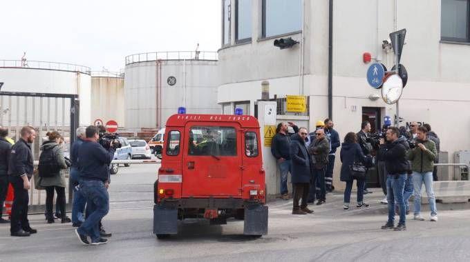 Esplosione al porto di Livorno