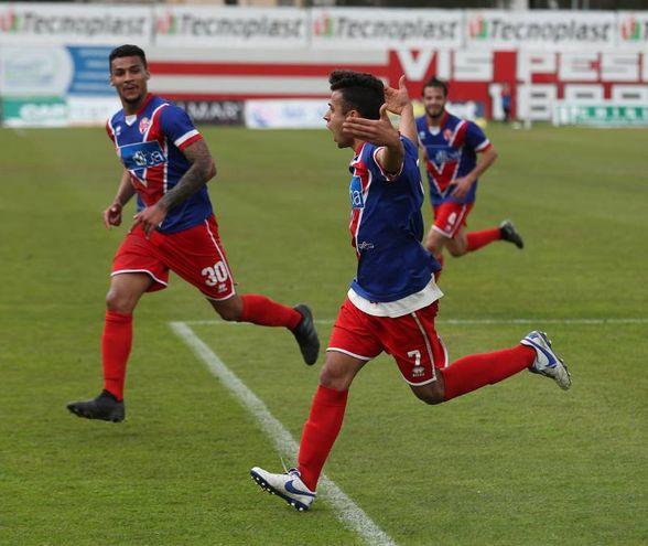 Vis Pesaro - Sangiustese, il gol di Bellini (Fotoprint)