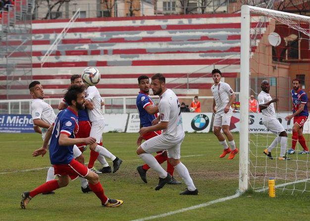 Vis Pesaro - Sangiustese, il gol di Radi (Fotoprint)