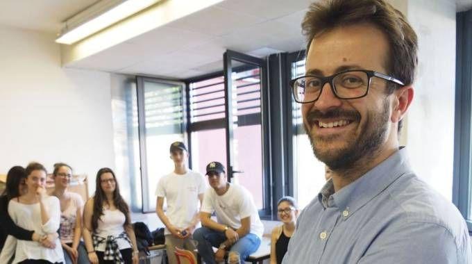 Marcello Contento con i suoi allievi