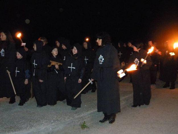 La Via Crucis di Norcia richiama visitatori da tutta Italia