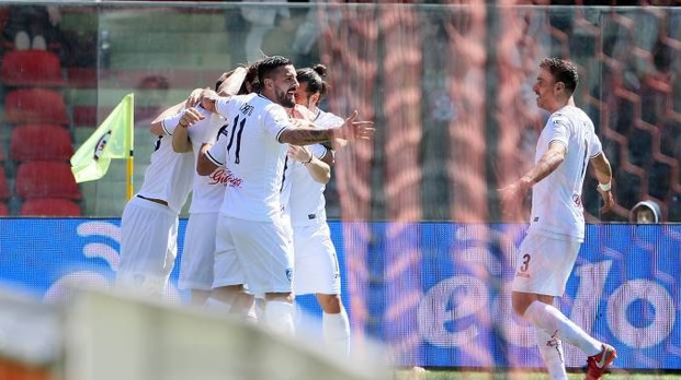 L'esultanza al gol di Zajc