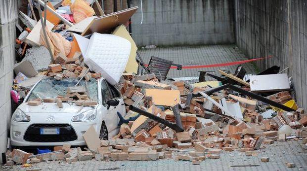 Crollo ed esplosione di una palazzina a Rescaldina (Studiosally)
