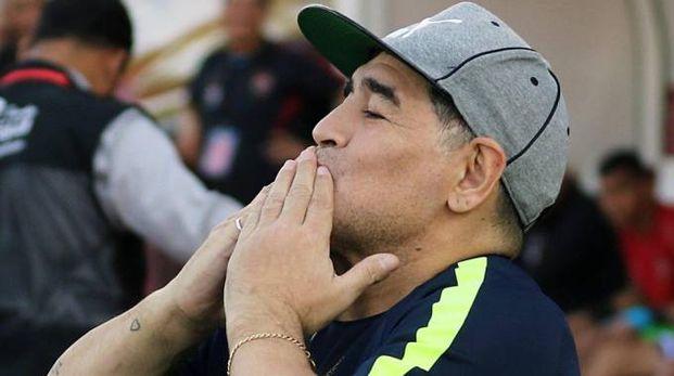 Diego Armando Maradona è nonno bis (Ansa)