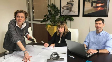 I tre motori dell'azienda: Giulia Melegari, Claudia Fontana e Francesco Melegari