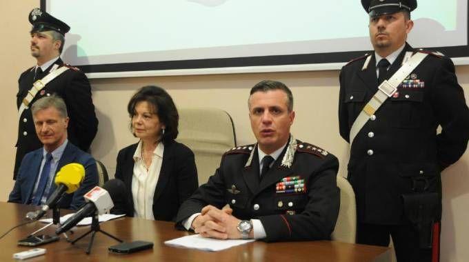 La conferenza stampa degli investigatori