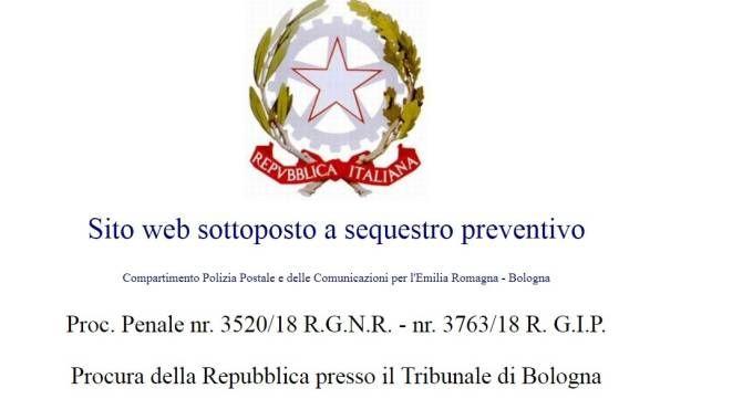 La schermata che appare sul sito www.butac.it