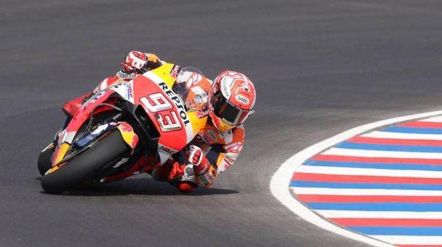 MotoGp Argentina, Marc Marquez miglior tempo nelle seconde libere (Ansa)