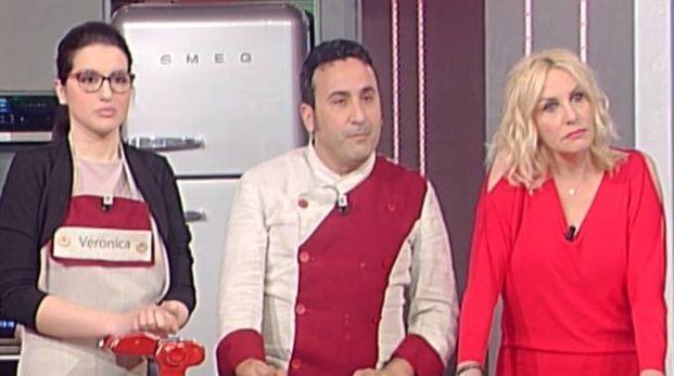 Veronica Babbi con lo chef Natale Giunta e Antonella Clerici