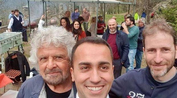 Grillo, Di Maio e Davide Casaleggio a Ivrea (Instagram)
