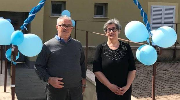 Il presidente di Agrabah, Alvaro Gaggioli, e la vice presidente Rossella Nausanti