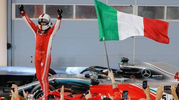 Vettel vince il Gp del Bahrain (Ansa)
