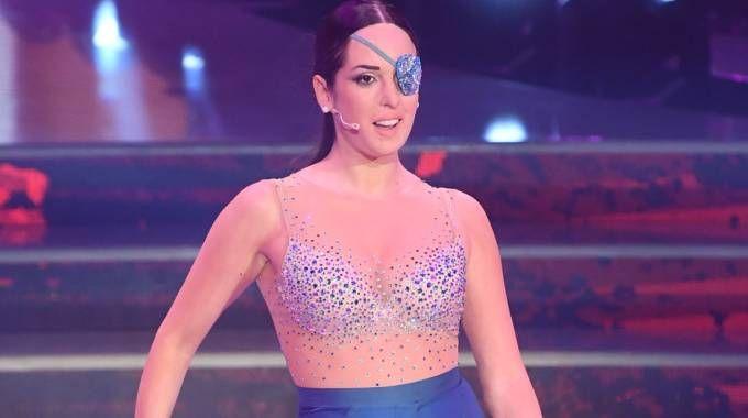 Gessica Notaro impegnata in pista a Ballando con le stelle (Foto LaPresse)