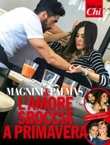 Filippo Magnini e Giorgia Palmas nella copertina di 'Chi'