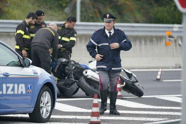 Una delle moto coinvolte nello schianto (foto Zeppilli)