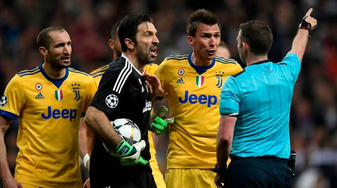 Juventus-Real Madrid, la rabbia di Buffon (Afp)