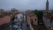 Piazza del Carmine con il dipinto di MIllo (Foto Fantini)