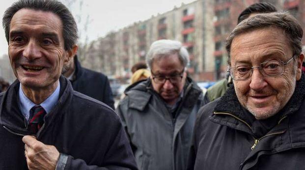 Attilio Fontana e Riccardo De Corato (La Presse)
