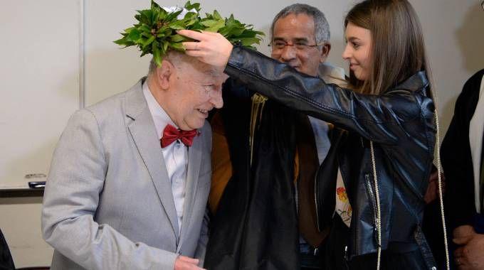 Italo Spinelli, laureato in Filosofia a 82 anni (Foto Calavita)