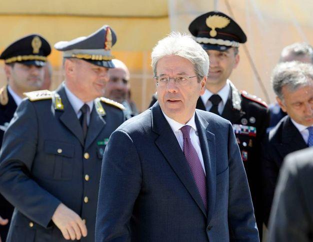 Il presidente del Consiglio Paolo Gentiloni a Muccia (foto Calavita)