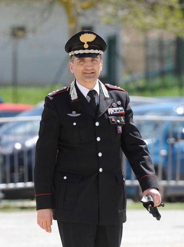 Il comandante provinciale dei carabinieri di Macerata, Roberti (foto Calavita)