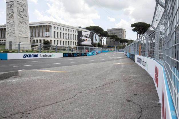Formula E a Roma, i preparativi al quartiere Eur (Lapresse)
