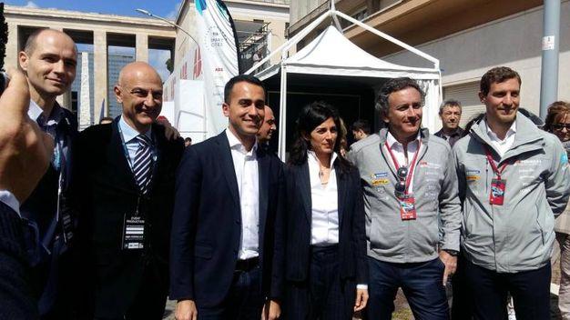 Formula E a Roma, Di Maio in visita ai paddock (Ansa)